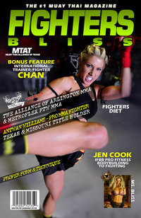 Jen Cook IFBB Pro Fitness Model training with Arlington MMA and FT Worth Metroflex Gym