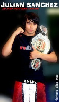 Julian Sanchez Arlington MMA's Naga 135 and 140lbs expert division Champion